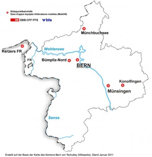 Karte Region Bern