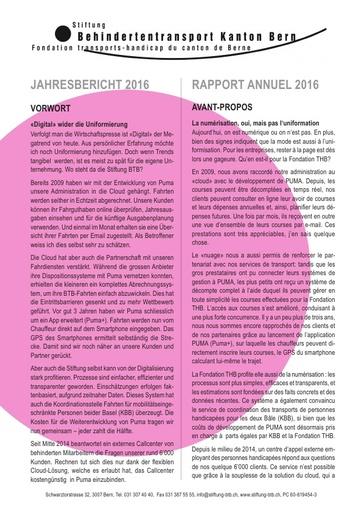 013 Jahresbericht / Rapport annuel 2016