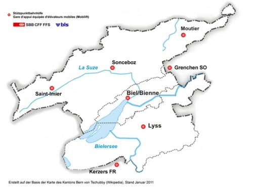 Karte Biel Lyss